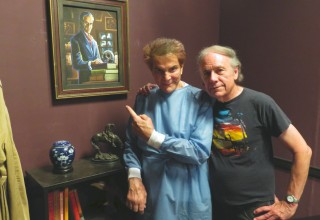 "Actor Mel Novak (Bruce Lee's 'Game of Death') with Filmmaker Don Glut (author of #1 Best Selling Star Wars novel ""The Empire Strikes Back"")"
